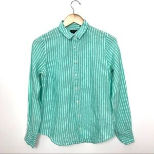 J.Crew Slim perfect shirt striped Irish linen B3
